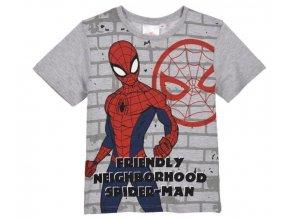 Klučičí tričko SPIDERMAN šedé