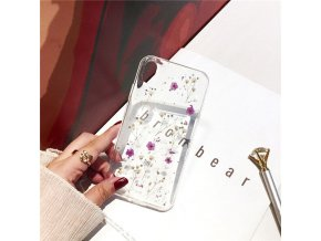 1 Qianliyao Real Dried Flowers Soft Cover For iPhone X 6 6S 7 8 Plus 11 Pro