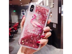 0 Anti Knock Dynamic Quicksand Case For iPhone 11 Pro X XR XS MAX App Icon Glitter