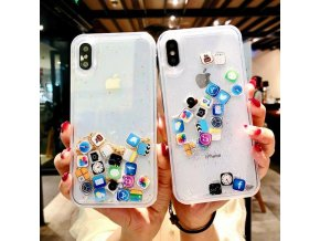 1 Anti Knock Dynamic Quicksand Case For iPhone 11 Pro X XR XS MAX App Icon Glitter (1)
