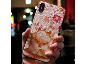 0 Eqvvol Cute 3D Emboss Cartoon Patterned Phone Case For iphone X 8 7 6 6S Plus