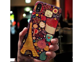3 Eqvvol Cute 3D Emboss Cartoon Patterned Phone Case For iphone X 8 7 6 6S Plus