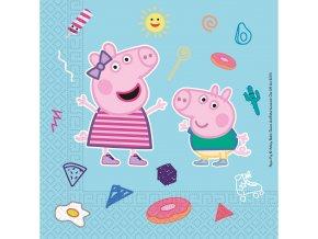 Dětské papírové party ubrousky Prasátko Peppa (20 ks)