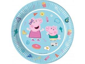 Dětské papírové party talířky 23 cm Prasátko Peppa 8 ks