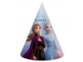 Dětský papírový party klobouk Ledové království 2 6 ks