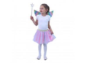 Dětský kostým Jednorožec TUTU sukně a křídla