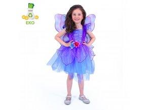 Dětský kostým víla fialová EKO