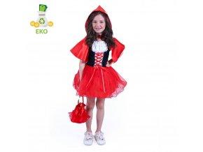 Dívčí kostým Karkulka EKO