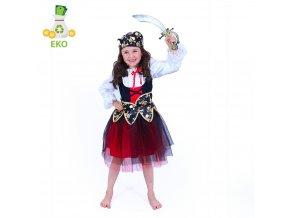 Dětský kostým Pirátka EKO