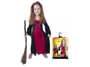 Dětský kostým Halloween - Čarodějnice bordó