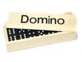 Dětské domino v dřevěné krabičce
