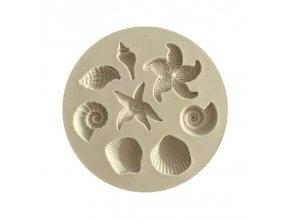 1pc Silicone Seaworld Seashells starfish conch shape silicone mold fondant chocolate cake decoration mold 7