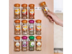 Urijk 2Pcs New Creative Kitchen Clip Spice Gripper Jar Rack Storage Holder Wall Cabinet Door Rack 15