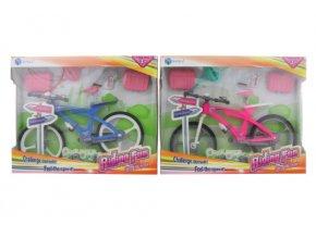 Závodní kolo s doplňky pro panenky