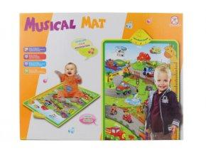 Dětský hudební koberec s dopravními prostředky