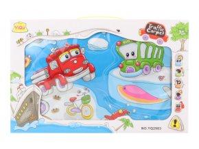 Dětský hudební koberec s dopravními prostředky, malý