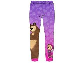 Dívčí vyteplené legíny Máša a Medvěd, fialové