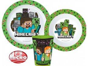Dětská jídelní sada s kelímkem Minecraft, mikroplast