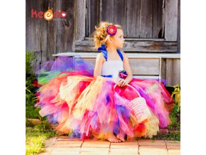 Keenomommy Candy Rainbow Flower Girls Tutu Dress for Birthday Photo Wedding Kids Halloween Christmas Costume TS052 21