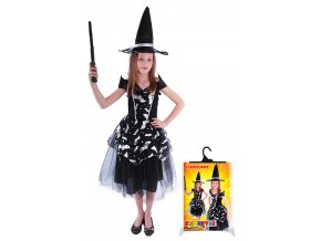 Dívčí kostým Halloween - Čarodějnice netopýrka