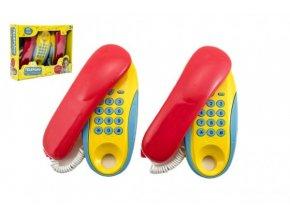 Dětské plastové pokojové telefony na baterie 2 ks