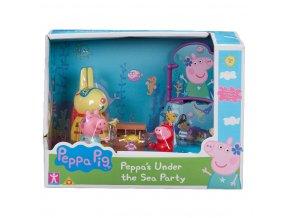 Prasátko Peppa sada Svět pod vodou, 3 figurky a doplňky