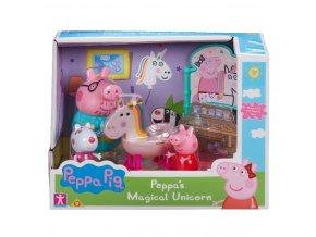 Prasátko Peppa sada Jednorožec, 3 figurky a doplňky