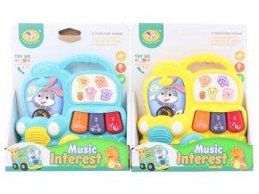 Baby piánko Autobus hračka pro miminka