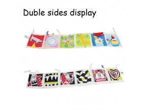 Baby Toys Crib bumper Baby Cloth Book Baby Rattles Knowledge Around Multi Touch Colorful Bed Bumper dog