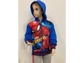 Klučičí mikina Spiderman na zip, světle modrá
