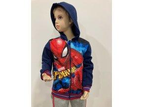 Klučičí mikina Spiderman na zip, tmavě modrá