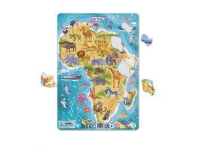 Dětské puzzle zvířata Afriky 53 dílků
