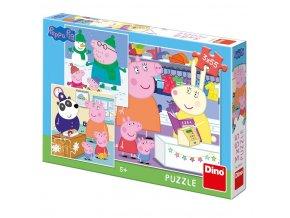 Prasátko Peppa puzzle 3x55