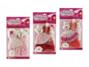 Šatičky pro Barbie panenky 2 ks s doplňky mix modelů