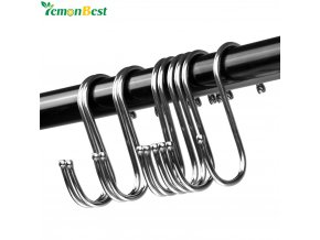 Powerful Stainless Steel S Shaped Hanger Hook Kitchen Bathroom Clothing Hanger Hooks Railing Clasp Holder Hooks 1