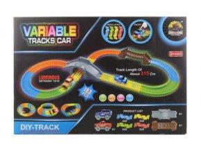 Svítící magická dráha s autíčkem na baterie
