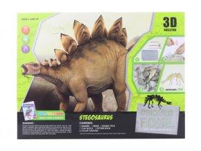 Tesání s omalovánky - Stegosaurus