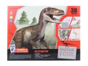 Tesání s omalovánkami - Velociraptor