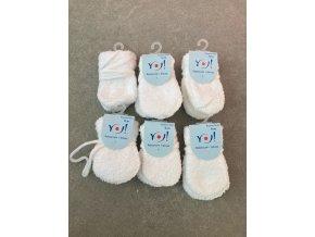 Kojenecké palcové rukavice pro miminka, bílé