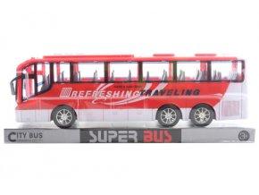 Autobus na setrvačník, červený