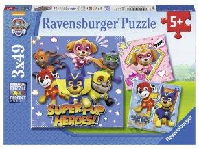 Ravensburger puzzle Tlapková Patrola Super Pup Heroes 3x49 dílků