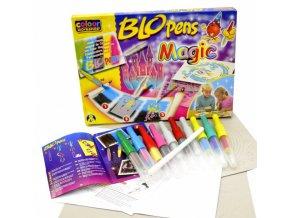 Foukací fixy na papír - Magic set, 8+3