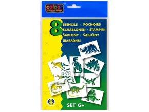 Set šablon k foukacím fixům - Dinosauři