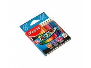 Pastelky Maped trojboké Color Peps Mini - 12 barev