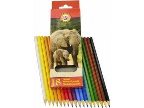 Klasické školní pastelky, 18 barev