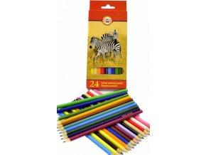 Klasické školní pastelky, 24 barev