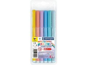 Dětské fixy Centropen Colour World - Pastel, 6 ks