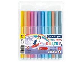 Dětské fixy Centropen Colour World - Pastel, 12 ks