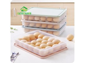 JiangChaoBo Can Be Stacked Refrigerator Egg Storage Box 24 Egg Care Kitchen With A Dust Proof 3