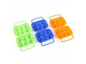1pc Plastic 6 Grids Portable Camping Picnic Barbecue Outdoor Egg Box Convenient Kitchen Egg Storage Boxes 7